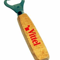 Wooden bottle opener with Vittel decoration by BSB-GROUP