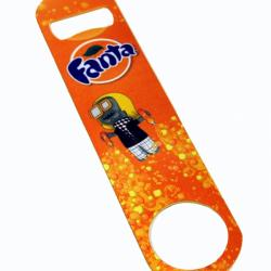 Stainless steel bottle opener with full color Fanta by BSB-GROUP
