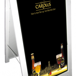 Chalk a board Gouden Carolus in wood