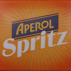 Aperol Spritz enamel advertising sign