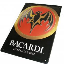 Embossed tinplate Bacardi with full color decoration