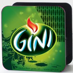 Metal coaster holder Gini with decoration