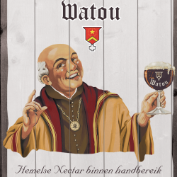 Wall board St. Bernardus in cardboard with wood effect
