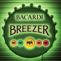 Illuminated Sign for Bacardi Breezer