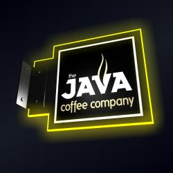 Illuminated sign Java with led lights from Osram