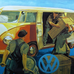 Volkswagen (Transporter) enamel advertising sign